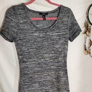 Long midi marled grey dress